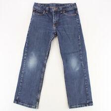 WRANGLER Dark Wash Denim Blue Jeans Youth Boys 10 Husky