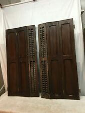 "37"" T x 35.5"" VTG Colonial Wood Interior Louver Plantation Window Shutters Pair"