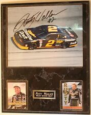 """Rusty Wallace Signed 8 x 10"""" Photo Nascar w/Cards 15 x 12"""" Wall Plaque Autograph"""