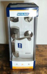 Schlage Satin Nickel Single-Cylinder Deadbolt Entry Door Handleset Handle Key