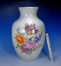"""Meissen """" Flower Bouquet """" Large Vase 42 Cm. 1.Wahl"""