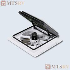 """Maxxair MaxxFan 4401K 14x14"""" 12v 4-Speed Roof Fan Vent w/12"""" Blade & Smoke Cover"""