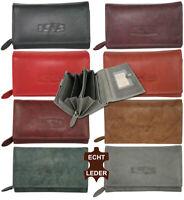 Leder Damen Geldbörse mit RFID-Schutz Groß Portemonnaie Brieftasche viel Platz