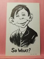 "Pre MAD Magazine ""So What?"" 1941 Post Card NOS Alfred E. Neuman Collectibly MAD"