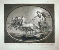 Carlo Lasinio Rom Sol Apollo Mythologie Griechenland Antike Streitwagen um 1800