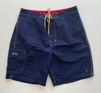 Polo Ralph Lauren Mens Designer Board Shorts Swim Trunks Blue Size L