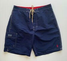 Polo Ralph Lauren Mens Designer Board Shorts Swim Trunks Blue Size L