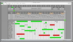 Planungssoftware Excel App Urlaubsplan Dienstplan Schichtplan Personalplaner