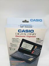 RARE CASIO SF-3500 DIGITAL DIARY WITH BOX AND PAPERWORK.