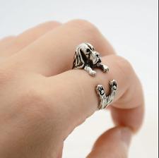 Basset Hound Dog Wrap Around Ring
