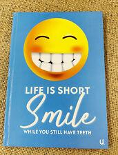 "Pier Paper Co. - A5 Emoji ""Life is short"" Hardback Notebook"