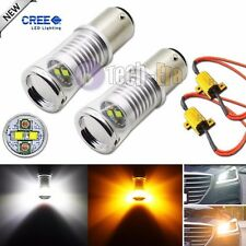 2x Hi-Power 1157 20W CREE Switchback LED Turn Signal Light Bulbs + Load Resistor