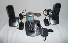 Vtech Cs6128-41 Dect 6.0 Cordless Phone Digital Answering System 3 Handsets