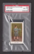 Our Gang Joe Cobb Rare 1930s Pidan Film Stars Card PSA 8 NM MT