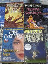 Anne McCaffrey 4 Sci Fi Book Lot Nimisha's Ship Damia's Children Adventures! D43