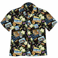 NEW ORLEANS MARDI GRAS Hawaiian Camp Shirt - David Carey Originals - BRAND NEW!
