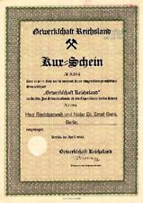GEW. reichsland Berlin H kuxschein 1930 Alsace Kali Mine Mines France