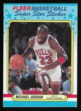 1988-89 Fleer Super Star Sticker Michael Jordan Bulls #7 (#2)