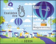 Hongrie 2018 année nationale de la famille/hot air balloon/personnes 1 V M/S (n45800b)