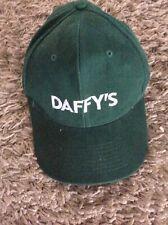 Green Beechfield Adults one size adjustable cotton baseball cap DAFFY'S logo