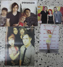 "4 fantastic Paramore Hayley Williams Rare Israel magazine poster 11""x16"" A3 LOT"