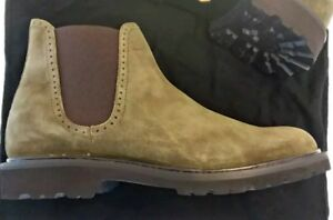 WOLVERINE 1000 Mile Cromwell Chelsea Boot Olive Suede Leather $255 Mens 11 M New