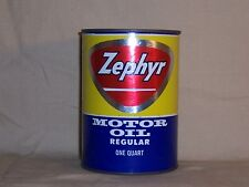 Vintage Zephyr Motor Oil 1 qt Can Gas Oil Advertising Bank Old Original