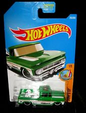Hot Wheels 2017 Surf's Up Series #255 Custom 1962 Chevrolet Pickup Green w/ ST8s