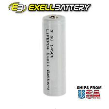 3.2V 500mAh LiFePO4 AA 14500 Battery Solar Illuminations PL04 PL05 PL06 PO01