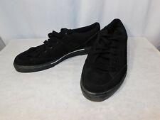 Spalding Men's Suede Deck Shoes Size 10 Black Casual Sneaker Style