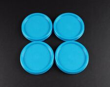 Tupperware Modular Mates Blue Round Lids Set of 4 + Free Shipping