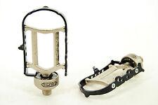"Tioga SS-Zero ZeroAxle Pedals Silver Black Sealed Bearing Low Profile 9/16"""