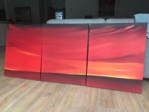 original artwork, Sunset, modern, Triptych