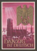 """[70859] 1939 POSTCARD """"Danzig ist Deutsch""""  (H&G #277?)"""