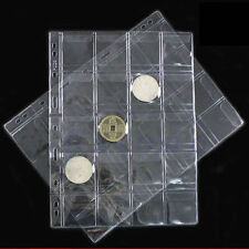 Classic 1 Pages 20 Pockets Coin Holder Sheet Storage Collection Money Album Case