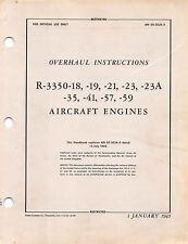 R-3350 Radial Aircraft Engine Overhaul Instructions B-29 B-32 Flight Manual -CD