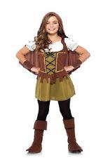 ROBIN HOOD GIRLS COSTUME Medium 8-10 Renaissance Cosplay Child Halloween NEW