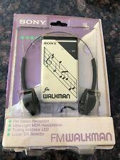 Vintage Sony Walkman FM Receiver Model SRF-16W Music Notes