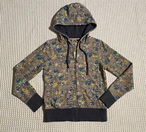 VOLCOM Lil Monsters Dinosaurs Zip Fleece Hoodie Hooded Sweatshirt M Medium