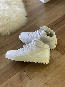 Shoe Surgeon X John Geiger x Nike Air Force 1 MID PYTHON Lux White Gold