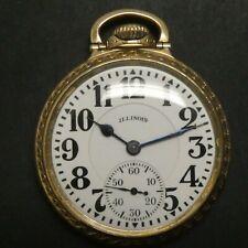 Illinois BUNN SPECIAL SIXTY HOUR Railroad Pocket Watch 16S 21J 10K Gold F ADJ 8