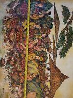 No.3007 original awesome painting. A. Bali 2013 30 x 23 inch 1pcs