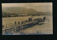 Cumbria POOLEY BRIDGE Steamer Ullswater Used 1946 RP PPC fault