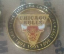 NBA Chicago Bulls Five Time Champions Pin Imprinted Products Michael Jordan
