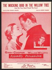 Mocking Bird in the Willow Tree 1956 Gary Cooper Friendly Persuasion Sheet Music