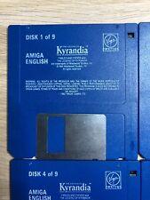 Rare Vintage Amiga Game - The Legend of Kyrandia Book One - 9 Disks No Box