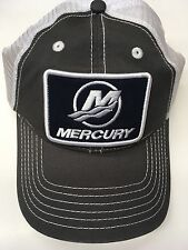 NEW Mercury Marine Tide Hat, Charcoal/White with Navy Tide Patch, Mesh Back