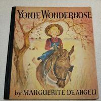 1944 First Edition Illustrated Yonie Wondernose by Marguerite De Angeli