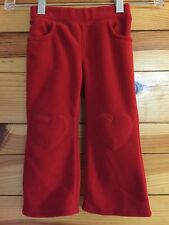 *CRAZY 8 GYMBOREE* Girls CHERRY GOOD FRIENDS Red Fleece Pants Size 18-24M