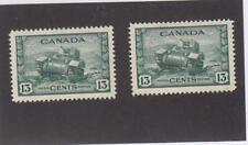 CANADA (MK6077) # 258  VF-MH  13cts 1942 RAM TANK, CANADIAN ARMY- x2 CV $16